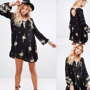 Free People Women's Oxford Embroidered Shift Dress
